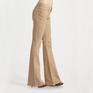 Rag & Bone Elephant Bell Flare Tan Jeans - 31